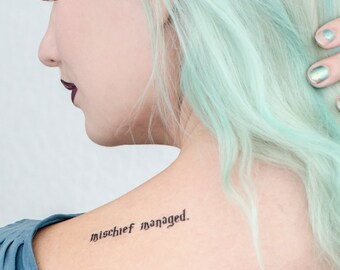 Mischief Managed Temporary Tattoo