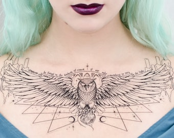 Owl Podium Temporary Tattoo