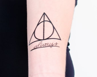 Hallows and Always Temporary Tattoos