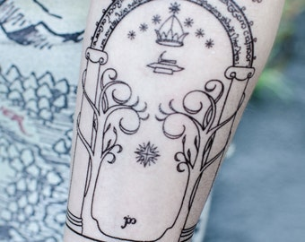 Durin's Door Temporary Tattoo