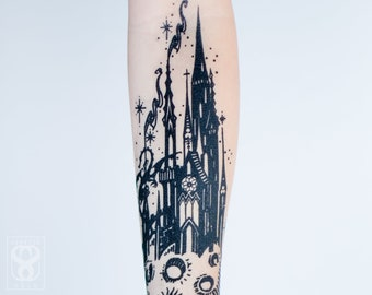 Castle in the Sky Temporary Tattoo