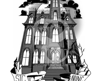 Creepy & Kooky Mansion Print