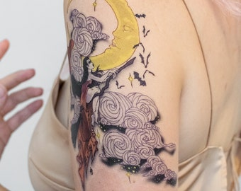 Moon Witch Temporary Tattoo