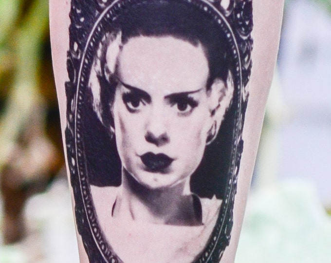 Featured listing image: Bride of Frankenstein Temporary Tattoo