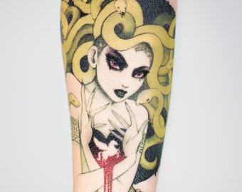 Medusa Temporary Tattoo by Leilani Joy