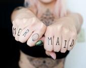 Mermaid Finger Temporary Tattoos