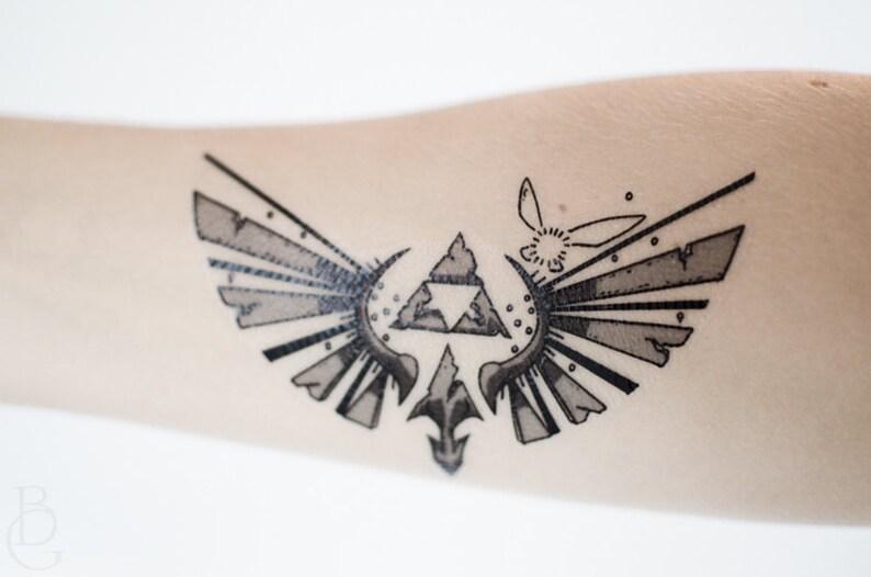 Tatouage Temporaire De Zelda Petit Etsy