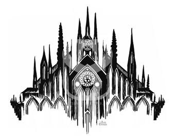 Black Cathedral Print