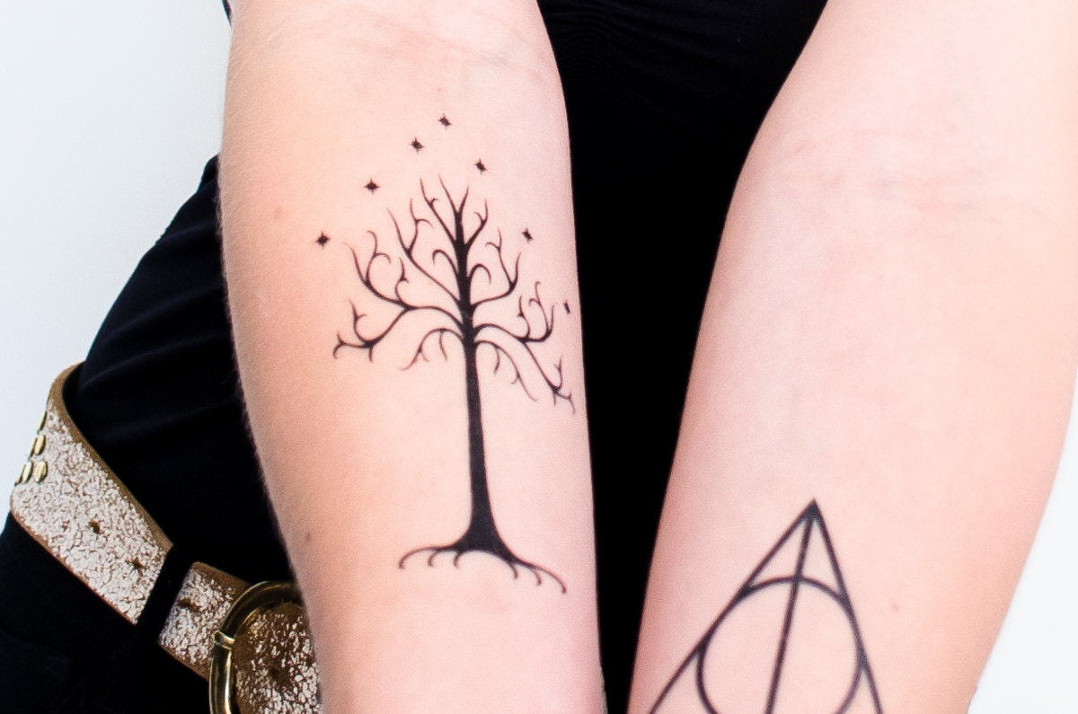 Tree of Gondor Temporary Tattoo | Etsy