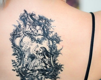 Antique Alice in Wonderland Tattoo