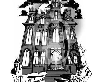 Creepy & Kooky Mansion Print
