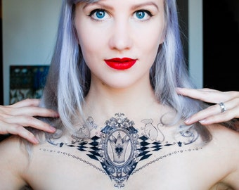 White Queen (Alice in Wonderland) Temporary Tattoo