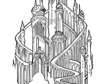 The Little Mermaid's Palace Print