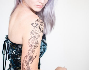 The Little Mermaid Temporary Tattoo