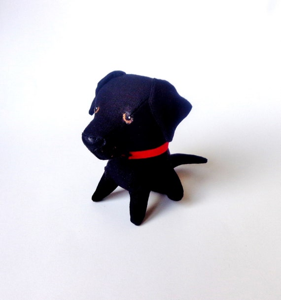 Cute Black Labrador Retriever Puppy Dog Stuffed Animal Plush Etsy