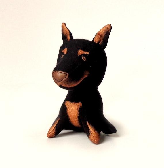 Doberman Pinscher Toy Plush Toy Dog Soft Toy Dog Stuffed Etsy