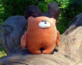 Stuffed animal Handmade soft toy Teddy bear toy plush bear Brown Personalised Bear artist bears forest animal woodland nursery baby toy