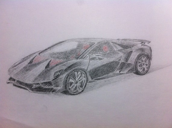 Items Similar To Sesto Elemento Color Pencil Drawing Of A