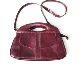 Red Faux Leather Bag 573aa2e8aef58