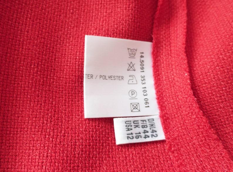 Short Women/'s Jacket Scarlet Red Blazer Spring Jacket Vintage Red Jacket Large Size Jacket Long Sleeves Cardigan Ladies Clothing
