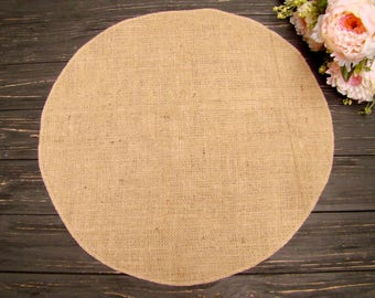 Round table placemat Circular tablecloth Wedding centerpiece Burlap overlays table mat Country Table Topper Rustic Chic Decor