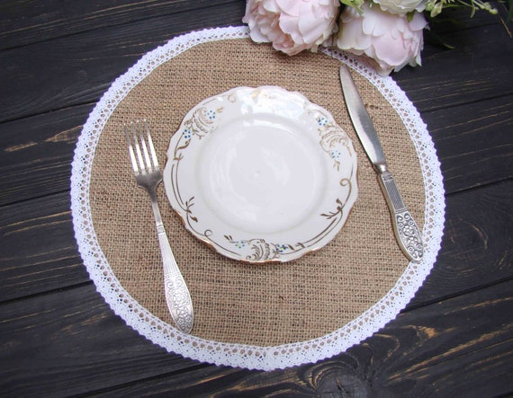 Wedding Placemat Rustic Table, Placemat For Round Table