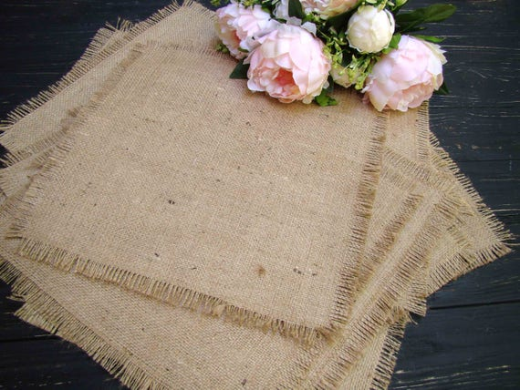 Vintage Hessian Burlap Lace Trim Table Runner Topper Rustic Wedding Venue Decor