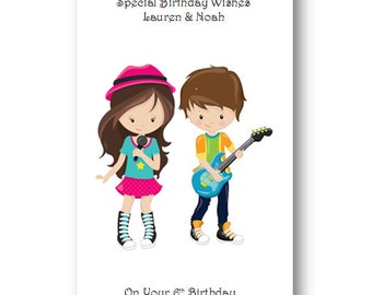 Personalised Twins Birthday Card