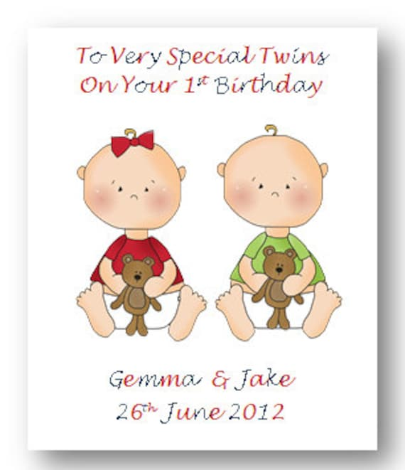 Personalised Babies First 1st Birthday Card 2nd