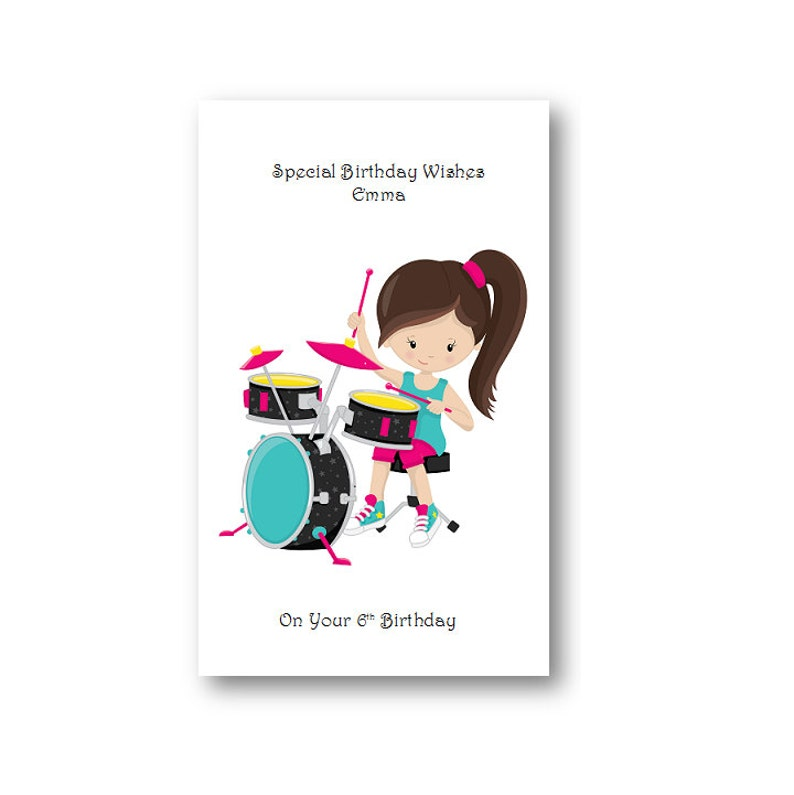 Personalised Girls Birthday Card Personalized