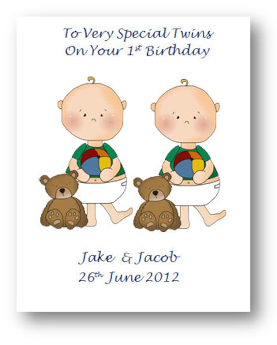 Personalised Babies First 1st Birthday Card 2nd Birthday Card Etsy