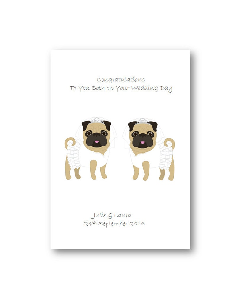 Personalized Mr and Mr Wedding Day Card Special Couple Personalised Gay Wedding Card Husband Mrs and Mrs Wedding Cards