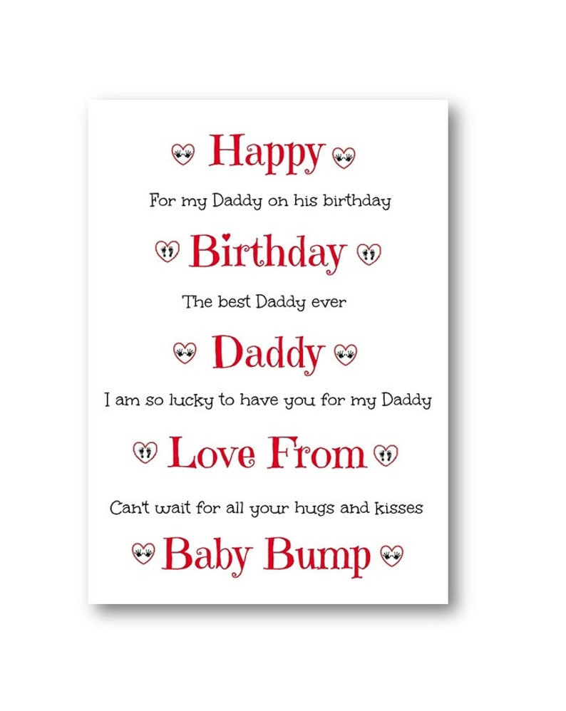 Personalised Birthday Card The From Bump Personalized