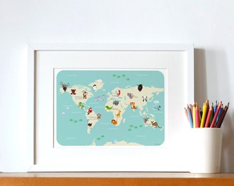 educative poster  for children - The Animals' world