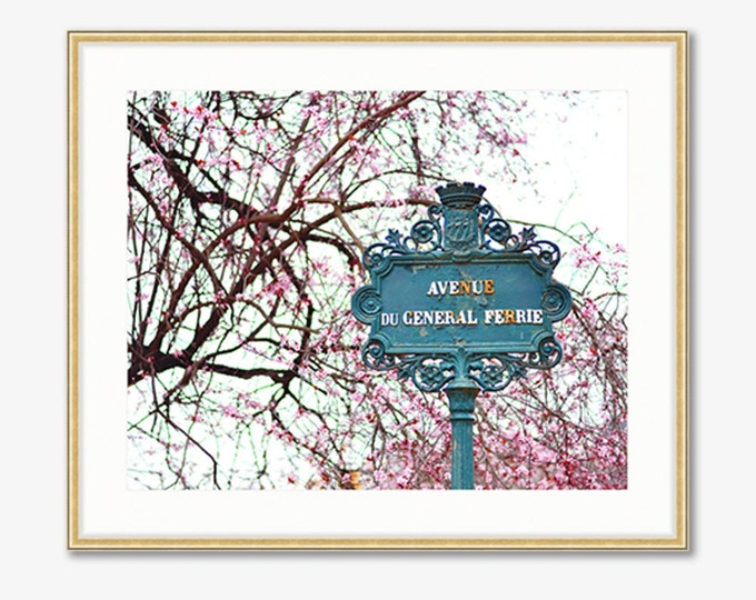 Paris Photograph -- Avenue du General Ferrie -- Travel Photography -- 10 X 8 Inch Print
