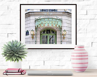 Paris Photograph -- Laduree Macarons -- Travel Photography -- 10 X 8 Inch Print