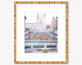 Roma Amore -- Spanish Steps -- Italy -- Travel Photography -- Home Decor