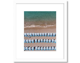 Positano Aerial Beach Photo -- Amalfi Coast -- Travel Photography -- Home Decor