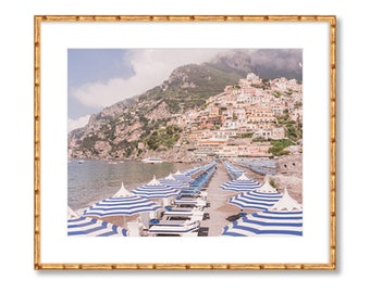 Positano Beach Umbrellas -- Amalfi Coast -- Travel Photography -- Home Decor