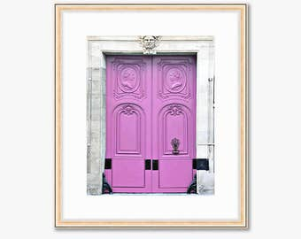 Paris Photograph -- Light Pink Doors -- Travel Photography -- 8 X 10 Inch Print