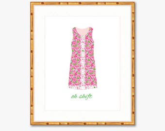 Oh Shift -- Lilly Pulitzer -- Home Decor -- Print