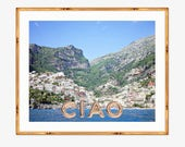 Ciao Positano Photograph Positano Beach Italy Travel Photography 8 X 10 Inch Print