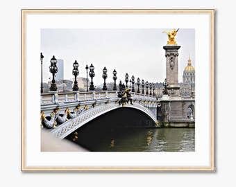 Paris Photograph -- Ponte Alexandre III -- Travel Photography -- 10 X 8 Inch Print