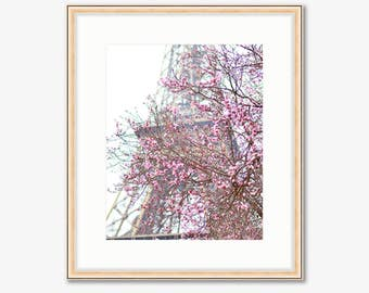 Paris Photograph -- Eiffel Tower in Full Bloom -- Travel Photography -- 8 X 10 Inch Print