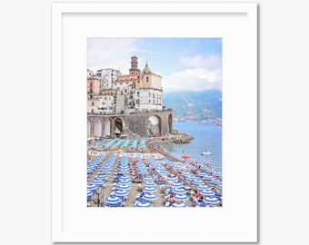 Atrani Italy -- Amalfi Coast -- Travel Photography -- Home Decor