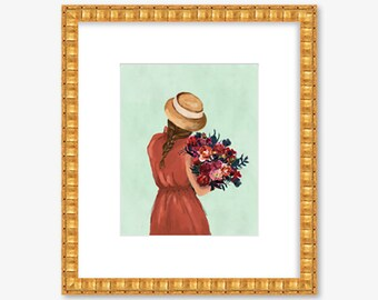 I Don't Want More Than This Provincial Life -- Fall Floral Art -- Watercolor Print -- Home Decor