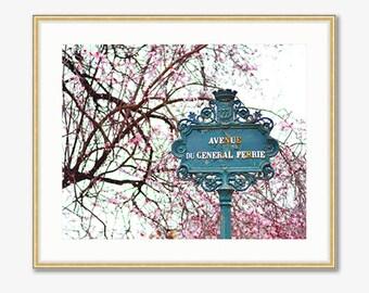 Paris Photograph -- Avenue du General Ferrie -- Travel Photography -- 10 X 8 Inch Print