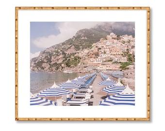 Positano Beach Umbrellas -- Amalfi Coast -- Travel Photography -- Home Decor
