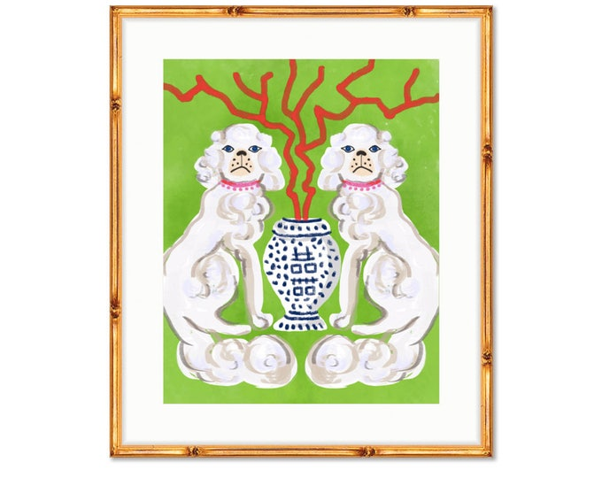 Featured listing image: Straffordshire Dogs -- Art Print -- Home Decor -- Live Colorfully
