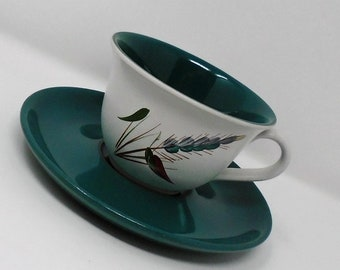 Denby Greenwheat Cup and Saucer Albert Colledge